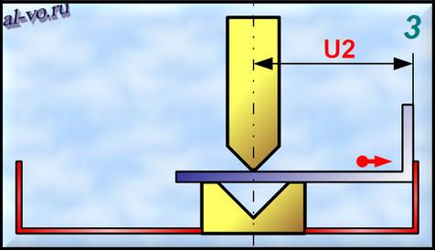 Изготовление гнутого швеллера (технологический шаг №3)
