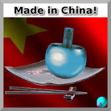 Китайский волчок на фоне флага КНР