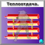 Образная теплоотдача регистра отопления в ИК-диапазоне.