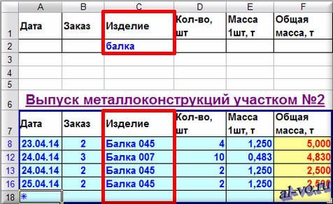 База данных-расширенный фильтр в Excel-02-13s