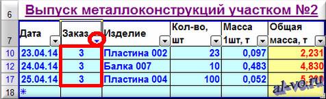 База данных в Excel-автофильтр по записи поля-03-12s