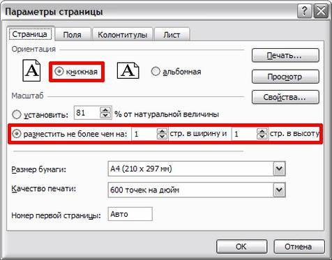 "Окно Excel ""Параметры страницы-Страница""-19s"