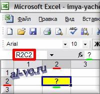 Имя-ячейки-R2C2